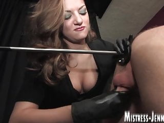 Locked in stock for strap-on and milking like a cow by Domme