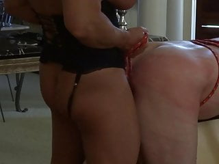 Muscle bitch ties him down and fucks him