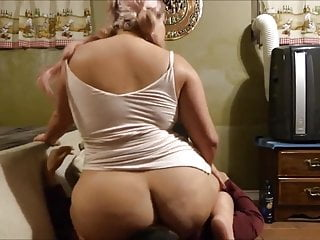 Squashed by fat ass milf