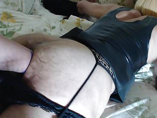 BBW mistress playing with amateur CD slave