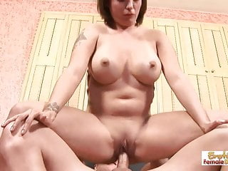 Yummy mummy wears her new sexy lingerie for her husband